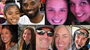 Gianna and Kobe Bryant (left top), Payton and Sarah Chester (right top) Christina Mauser, Alyssa Altobelli, John Altobelli, Keri Altobelli and Ara Zabayan (left to right bottom) are seen in this collage of the Jan. 26, 2020 victims.