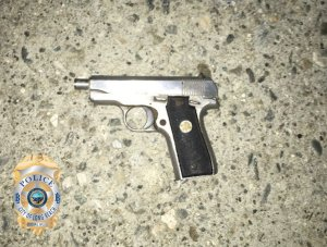 Long Beach police released this image of a firearm they said was found at the scene of a deadly officer-involved shooting on Feb. 16, 2020.