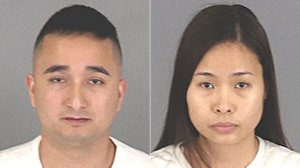 Andrew Vu, left, and Thu Vu are seen in undated booking photos released Feb. 13, 2020, by the Riverside County Sheriff's Department.